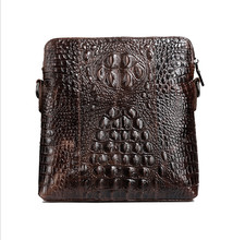 BOLO BRAVE NEW high quality genuine leather messenger bag Alligator retro fashion travel man Head layer cowhide shoulder bags