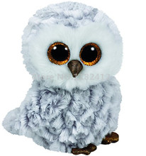 Beanie Plush Animals Owlette the Owl Toy Cute Stuffed Animals Big Eyes 6'' 15cm Soft Toys for Children Kids Gifts
