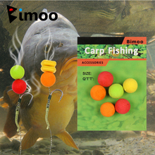 Bimoo 12PCS 8mm 10mm 12mm 14mm Colored Pop Up Carp Fishing Boilies Flavoured Grass Carp Bait Floating Corn Soft Pellet Lure(China)