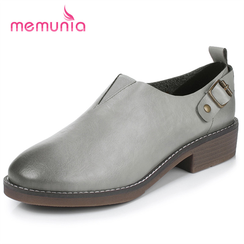 MEMUNIA 2017 Neutral handsome oxford shoes woman slip-on big size 34-43 single shoes round toe flats four seasons <br><br>Aliexpress