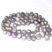 Free Shipping 4-5mm 6-7mm 7-8mm Select by Size! Light Purple DIY Baroque Potato Natural Freshwater Pearl Loose Beads 15""