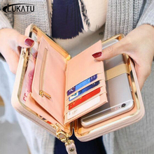 LUKATU Women Wallet New Comes High Capacity Fashion Female Long PU Leather Wallets Zipper Cellphone Pocket Purse Ladies Bags
