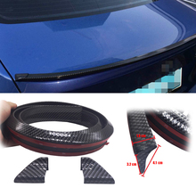Car-Styling 1.5M Carbon Fiber Trim Sticker Pattern Universal Tail Decoration Auto automobiles Accessories for volkswagen toyota(China)