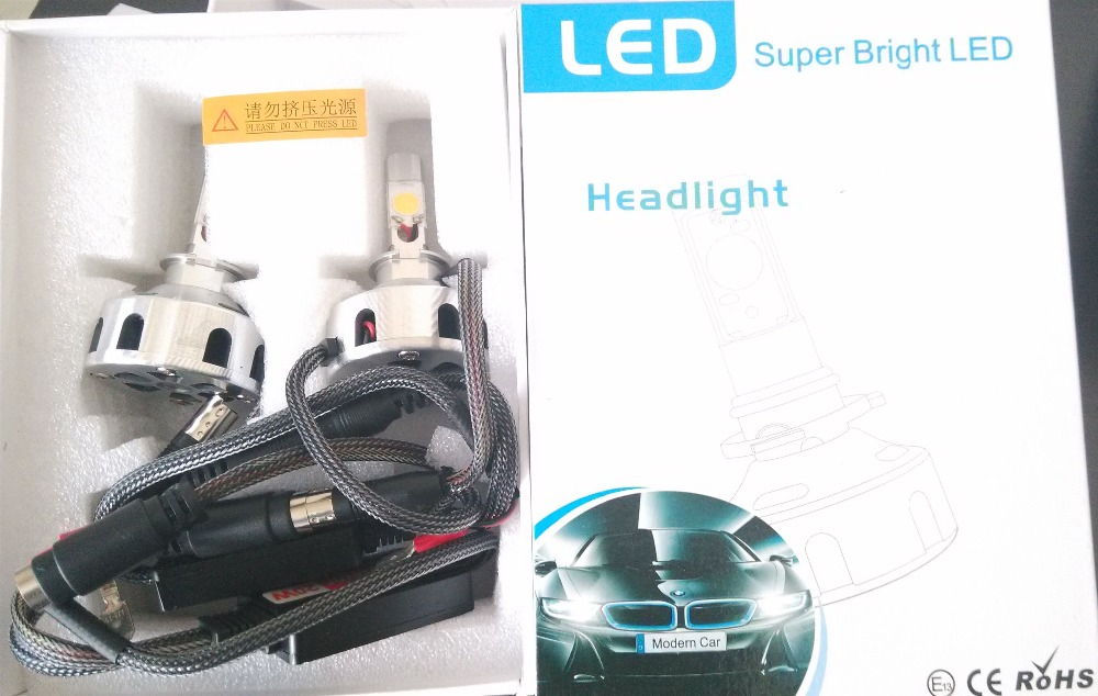 High quality super bright 6400LM 12V 30W H3 COB LED head ligh bulb with radiator conversion kit with driver<br><br>Aliexpress