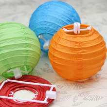 "Paper Lanterns 30pcs 4"" Ball Candy Color Chinese Paper Lanterns Wedding Party Decoration wholesale"