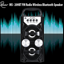 Redmaine MS-209BT Portable High Power Output FM Radio Wireless Stereo Bluetooth Speaker Supports Volume Control AUX FM TF Card(China)