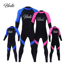 1PC 2.5mm Neoprene Family Clothes Kids Adults Wetsuits Diving Suits Bodysuits Scuba Snorkeling Equipment Surfing Women/Men DO