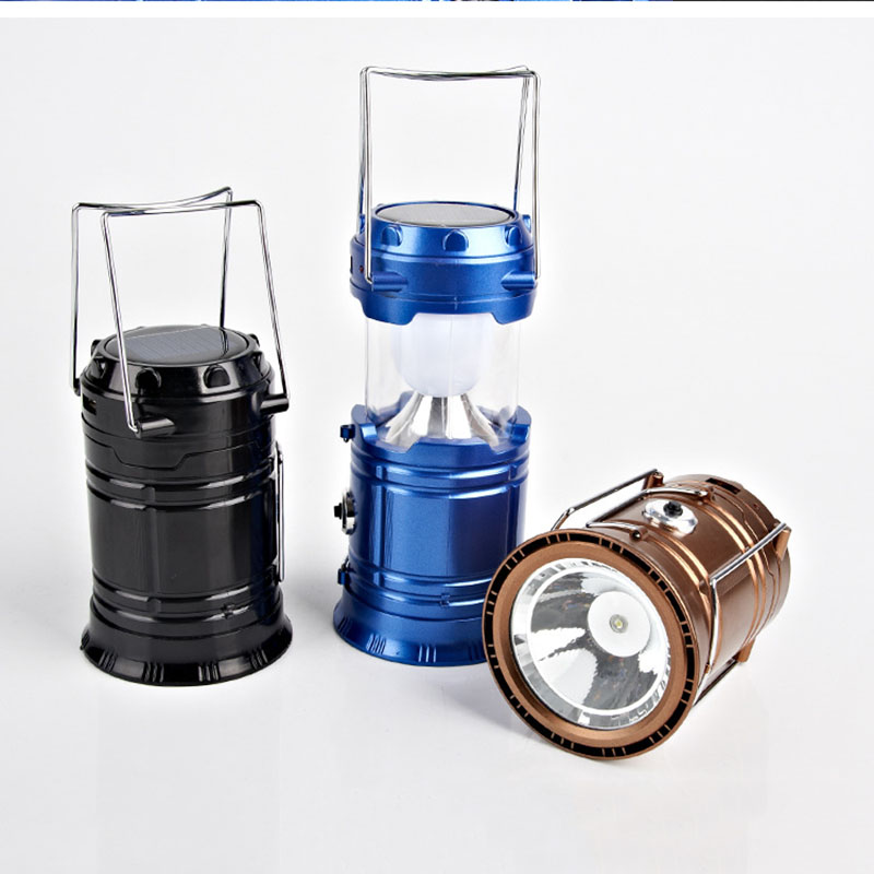 Multifunctional Camping Lamp USB / Solar Powered Light New Retractable Folding Outdoor Lantern For Outdoor Camping Hiking Sports<br><br>Aliexpress