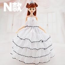 New 1pc Movable Joint Body Princess Babe Doll 30cm Wedding Design Dress Suite Kids Toy Brinquedo Girl Gift
