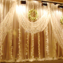 1 Set 4 styles LED Window Curtain Ribbon String Fairy Lights Wedding Party Background Decor natal Christmas decoration for home(China)