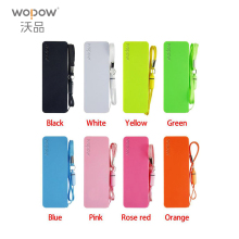 WOPOW Portable Practical Ultra-thin 2000mAh Vivid colors mobile USB power bank general charger external backup battery pack(China)