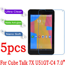 For CUBE Talk 7X U51GT-C4 7.0 Tablet Clear Glossy Soft Nano Explosion-proof Screen Protector Protective Guard Cover Film(China)
