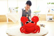 big new creative crab toy lovely red crab pillow doll about 75cm
