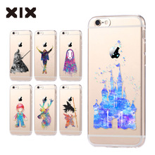 For fundas iPhone 5S case 5S 6 6S 7 8 Plus castle soft silicone TPU cover 2016 new arrivals original for coque iPhone 6S case(China)