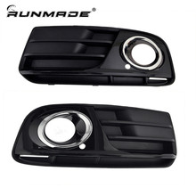 runmade 1Pair For 2013 2014 Audi Q5 Front Lower Grille Spray Painting Chrome Styling Left&Right Side(China)