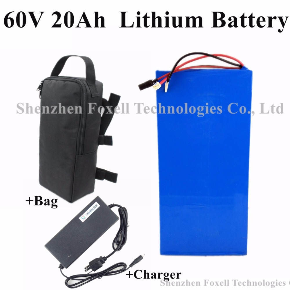 Free customs tax 1000W 60V 20AH Lithium battery Extra 1500w for Two Wheels Folding Electric Scooters Skateboard + charger + Bag (6)