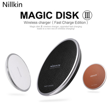 Fast Charge Wireless Charger Nillkin QI Magic Disk Charging Pad Galaxy S7 Note 5 S6 Edge Plus portable - Saier-3C store