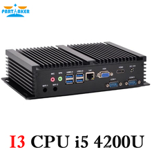 Nettop PC Mini PC Windows8.1 Industrial PC Core i5 4200U 1.6GHz With Fanless Silent PC 0.00dB