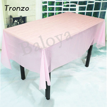 Tronzo Solid Color Table Cover PVC Tablecloth Birthday Wedding Decoration Tablecover Party Supplies