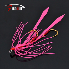 3Pcs/Lot Trulinoya House colored silicone rubber fishing streamers tied iron hook boat hook tow hook bait hooks  Lure P37 T30