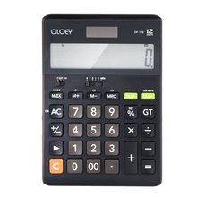 Calculator Solar Battery Light Powered Office Home Portable Calculator Fashion Computer Financial(China)