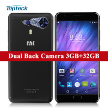 "THL Knight 1 4G Fingerprint Android 7.0 MTK6750T Octa Core 5.5"" FHD Dual Back Camera Smartphone 3GB+32GB 13MP OTG Mobile Phone"