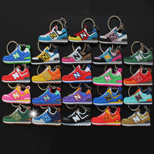 23Pcs/lots Mini Silicone Key chain New 574 New Sneaker Shoe Keyrings For Promotion Gift Toys For Women