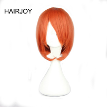 HAIRJOY Women Orange Wig One Piece Nami Cosplay Wigs Medium Length Straight Synthetic Hair High Temperature Fiber 2 Colors(China)
