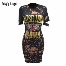 2017 American GUN N ROSES Rock Music Festival dress for women o-neck short sleeves bodycon 3D printing fashion dresses MOS-M481