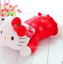Plush toy hello kitty doll lying posture KT doll pillow birthday gift fruit Stuffed  toy