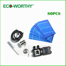 80 pcs 3x6 polycystalline solar cell ,solar cell kit, DIY solar panel for 12v battery, free shipping