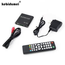 kebidumei Hot Mini Full Hd 1080p Usb External Hdd Player With SD MMC Card Reader Host Support Mkv Hdmi Hdd Media Player Black(China)