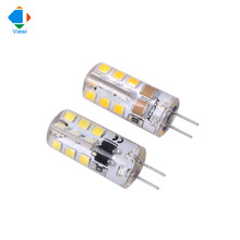 Viewi 10x G4 led lights AC/DC 12 volt 110v 220v corn bulb lamp SMD2835 24leds silicone 12v mini energy saving bulbs lampadine