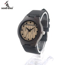 BOBO BIRD CbE29 Ladies Casual Wooden Watch Brand Design Movement Quartz Real Leather Strap Watches With Gift Box OEM
