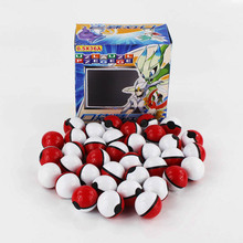 36pcs/set Pokeball Small Mega Model Poke Ball Toys Best Toys For Kids Collection Brinquedos Cards Stickers XY Kids Toys Set Doll