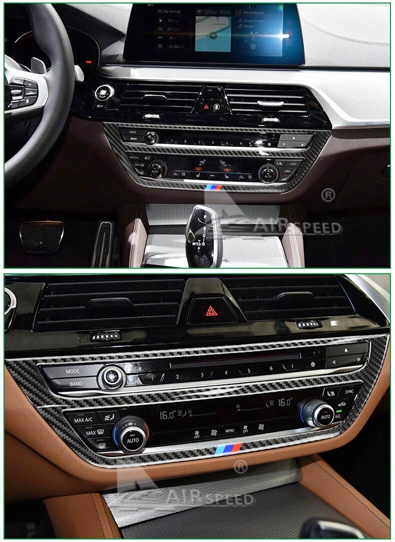 BMW 5 Series G30 528i 530i 540i Carbon Fiber Car Central Console Decorative Frame Interior Accessories Car Styling (7)
