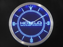nc0165 Kid Cudi Man On The Moon End of Day Neon Sign LED Wall Clock