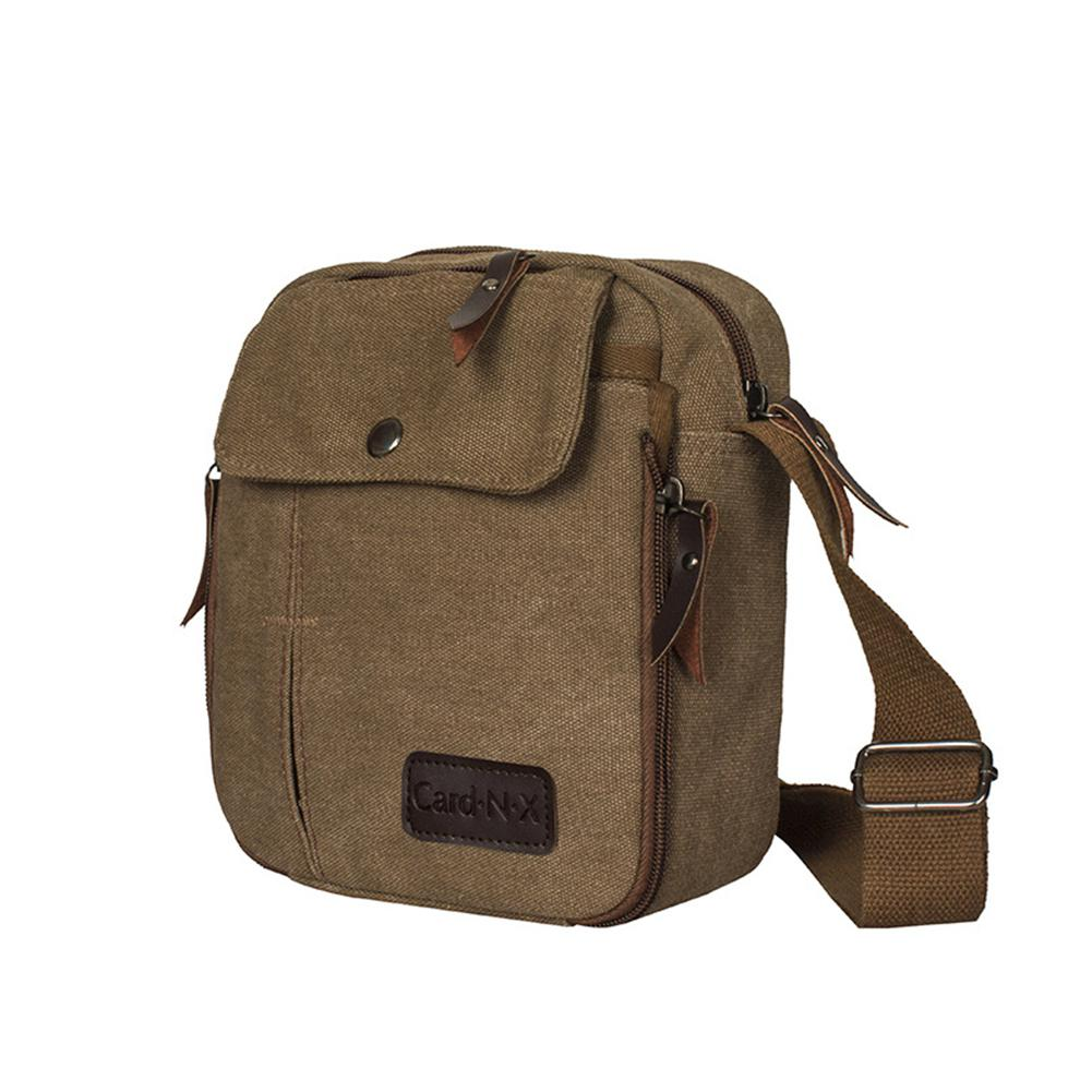 7f5c112947e1 PinShang Men Canvas Crossbody Bag Fashion Casual All-match Messenger ...
