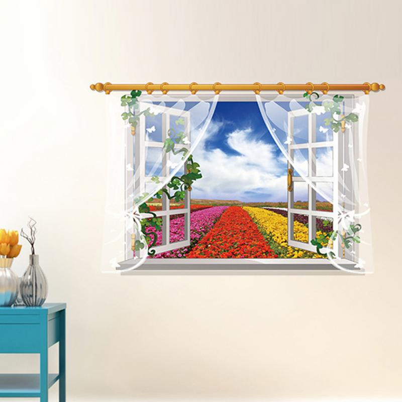 HTB1pBqfhwaTBuNjSszfxh4gfpXa8 - 3D Window View Nature Landscape Wall Sticker  For Living Room