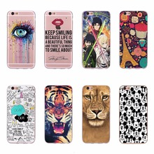 Sweet Love in Paris Eye Mouse TPU Silicone Soft Phone Case For iPhone 5 5S SE Cartoon Mickey Tiger Transparent Clear Cover Cases
