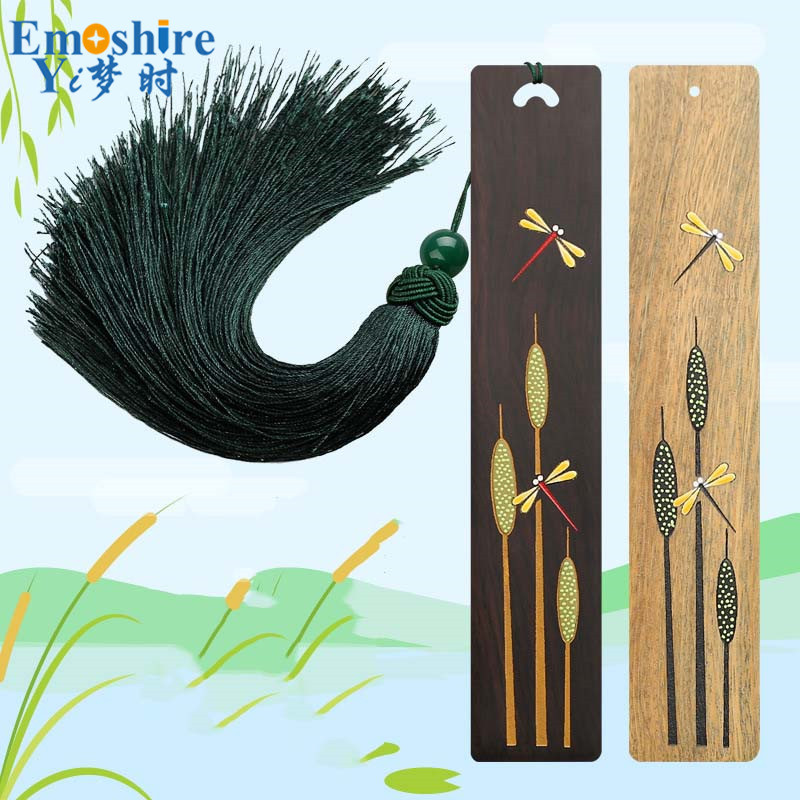 Hand-painted Classical Bookmarks  Chinese Romantic Bookmarks Ebony Wood Bookmarks Exquisite Gift Creative Custom Gifts M098<br>