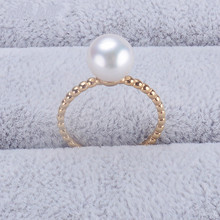 The Jewellery Natural Japan Akoya Seawater Pearl Ring 18K Gold Twist Ring New Product Tiny Believe