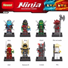 Newest Ninjagoes Krux The Weisnake Kai Samurai x Vermin Master legoing Wu Lloyd Nya Building Blocks Children Gifts Toys