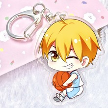 Kuroko no Basket acrylic Keychain Pendant Car Key Accessories Cute Japanese Cartoon Kuroko's Basketball(China)