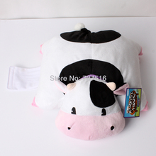 New Harvest Moon Black and White with Pink Mouth Cow 12'' Plush Animals Pillow Soft Plush Cushion Stuffed Doll Toys Gift(China)