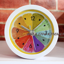reloj de pared Bedroom Alarm Clock Fruit Style Desktop Mini Needle Clock mechanical desktop clock(China)