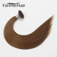 "FOREVER HAIR 0.8g/s 16"" 18"" 20"" Remy U Tip Human Hair Extension Middle Brown #6 Keratin Pre Bonded Hair Extension 40g/pac 50pcs(China)"
