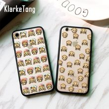 KlarkeTong Flower Monkey Emoji Cases For iPhone 5 5s SE 6 6s 7 Plus Hybrid Silicone Scrub Plastic Hard Back Cover Capa Fundas
