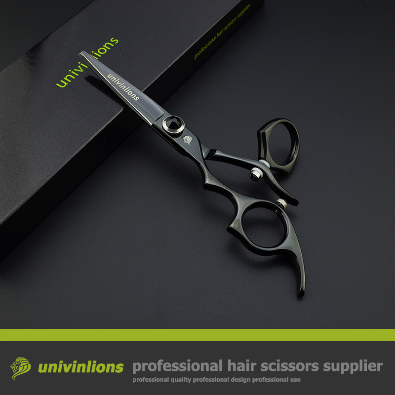 5.5 swivel left handed scissors professional hairdressing barber scissors left handed hair cutting shears rotary haircut shears<br>