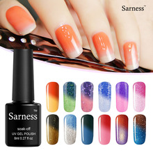 Sarness 8ml UV LED Gel Polish Varnishes Nail Lamp Mood Change Color Varnish Chameleon Temperature Change Color Gel Nail Polish(China)